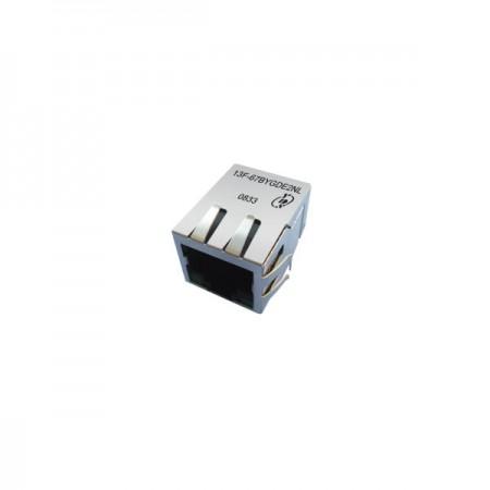 자기 기능이 있는 단일 포트 10/100 Base-TX PoE 및 PoE+ RJ45 잭 - 단일 포트 10 / 100 Base-TX PoE 및 PoE+ RJ45 잭(자기 기능 포함)(13F-67 시리즈)