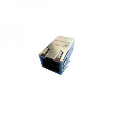 Single Port 2.5G Base-T PoE & PoE+ RJ45 Jack with Magnetics
