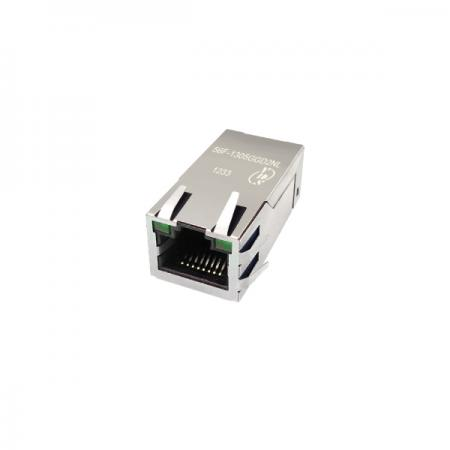 Single Port 100/1000 Base-T PoE & PoE+ RJ45 Jack with Magnetics - Single Port 100/1000 Base-T PoE & PoE+ Tab Up RJ45 Jack with Magnetics (56F-14XX Series)
