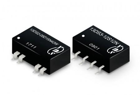 एसएमडी पैकेज 0.25 ~ 3W डीसी-डीसी कन्वर्टर्स - एसएमडी पैकेज डीसी-डीसी कनवर्टर 0.25 ~ 3W