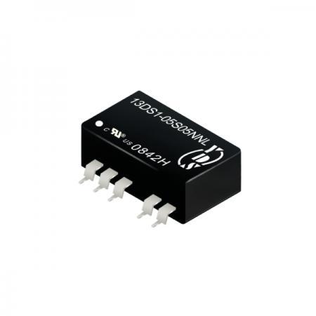 1瓦3KV隔离电压SMD 直流对直流电源转换器(13DS1) - 1瓦3KV隔离电压直流对直流电源转换器