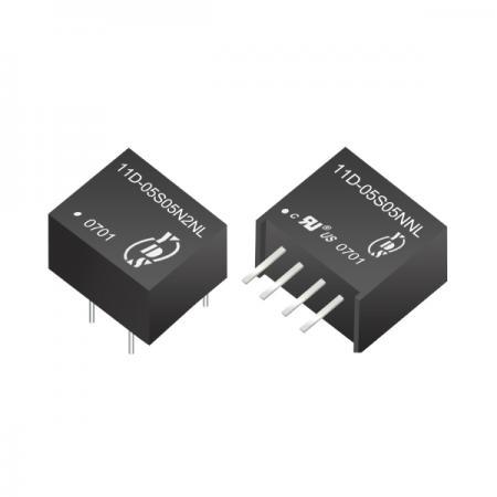 ตัวแปลง SIP DC-DC แบบแยก 0.25W 1KV (11D) - ตัวแปลง SIP DC-DC แบบแยก 0.25W 1KV (ซีรี่ส์ 11D)