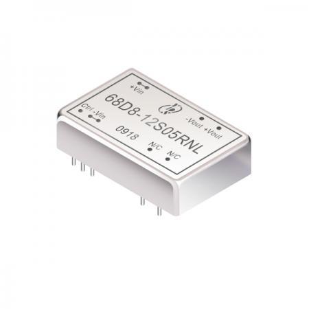 8W 1.6KV Isolation 2:1 DIP DC-DC Converters(68D8) - 8W 1.6KV Isolation 2:1 DIP DC-DC Converters(68D8 Series)