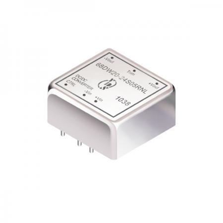 20W 1.5KV การแยก 4: 1 ตัวแปลง DIP DC-DC (68DW20) - 20W 1.5KV การแยก 4:1 DIP DC-DC Converters (68DW20 Series)