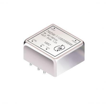 6W 2.5KV การแยก 4: 1 ตัวแปลง DIP DC-DC (76DW-6W) - 6W 2.5KV การแยก 4:1 DIP DC-DC Converters (76DW-6W Series)