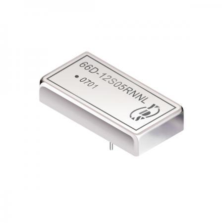 5瓦1.5KV隔离电压2:1宽输入DIP 直流对直流电源转换器(66D) - 5瓦1.5KV隔离电压2:1宽输入直流对直流电源转换器