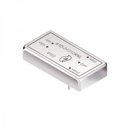 10瓦1.5KV隔离电压2:1宽输入DIP 直流对直流电源转换器(61D) - 10瓦1.5KV隔离电压2:1宽输入直流对直流电源转换器