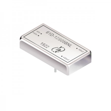 10瓦1.5KV隔离电压2:1宽输入DIP 直流对直流电源转换器(61D-BNL) - 10瓦1.5KV隔离电压2:1宽输入直流对直流电源转换器