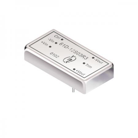 10瓦1.5KV隔离电压2:1宽输入DIP 直流对直流电源转换器(61D-R3) - 10瓦1.5KV隔离电压2:1宽输入直流对直流电源转换器