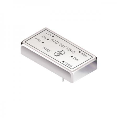 15瓦1.5KV隔离电压2:1宽输入DIP 直流对直流电源转换器(67D-R3) - 15瓦1.5KV隔离电压2:1宽输入直流对直流电源转换器