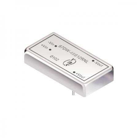 15瓦1.5KV隔离电压4:1宽输入DIP 直流对直流电源转换器(67DW) - 15瓦1.5KV隔离电压4:1宽输入直流对直流电源转换器
