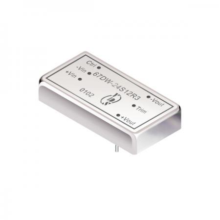 15瓦1.5KV隔离电压4:1宽输入DIP 直流对直流电源转换器(67DW-R3) - 15瓦1.5KV隔离电压4:1宽输入直流对直流电源转换器