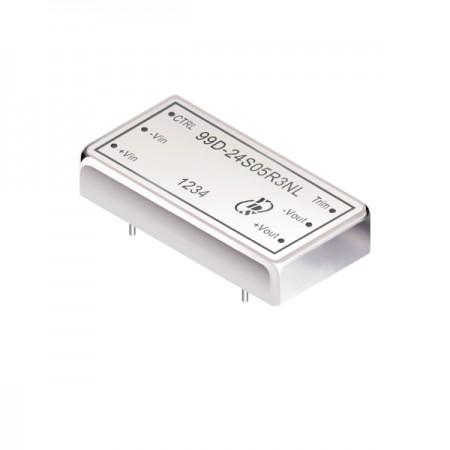 40瓦1.5KV隔离电压2:1宽输入DIP 直流对直流电源转换器(99D-R3) - 40瓦1.5KV隔离电压2:1宽输入直流对直流电源转换器