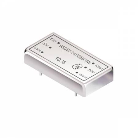 20瓦1.5KV隔离电压4:1宽输入DIP 直流对直流电源转换器(高度1.15cm) - 20瓦1.5KV隔离电压4:1宽输入直流对直流电源转换器