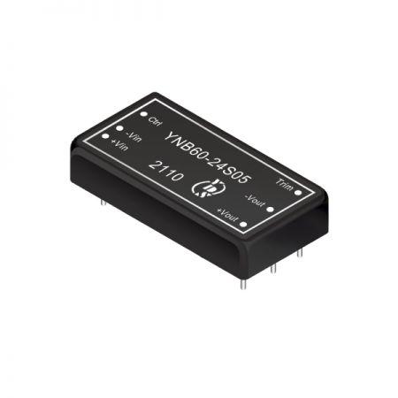 60瓦1.6KV隔离电压4:1宽输入DIP 直流对直流电源转换器(YNB60-Series) - 60瓦1.6KV隔离电压4:1宽输入直流对直流电源转换器