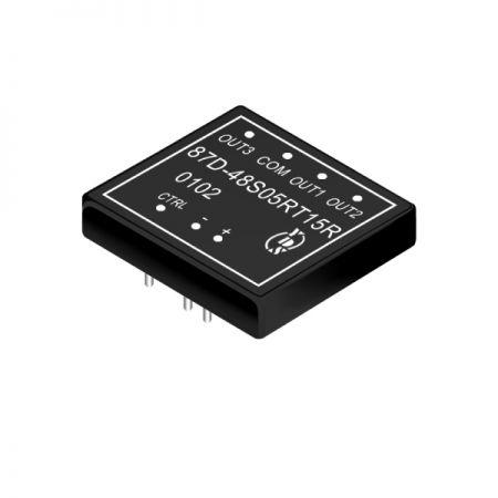 15W 1.5KV Isolamento Conversores DIP DC-DC de Saída Tripla 4: 1 (87D) - Conversores DIP DC-DC com isolamento de 15W 1,5KV 4: 1 (série 87D)