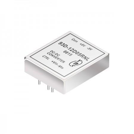 60瓦3KV隔离电压2:1宽输入DIP 直流对直流电源转换器(93D) - 60瓦3KV隔离电压2:1宽输入直流对直流电源转换器