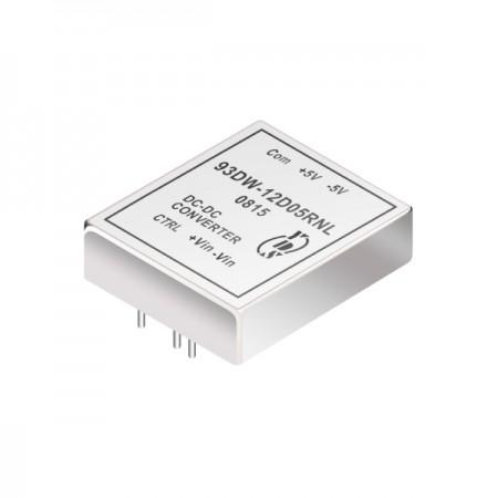 60瓦3KV隔离电压4:1宽输入DIP 直流对直流电源转换器(93DW) - 60瓦3KV隔离电压4:1宽输入直流对直流电源转换器