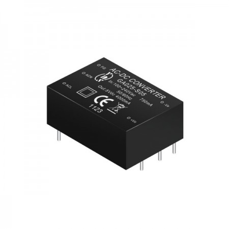 25W 3KVac Isolation Regulated Output AC-DC Converters (Module) - 25W 3KVac Isolation AC-DC Converters (Module)(GA025 Series)