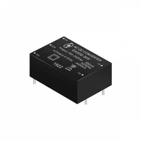 30W 3KVac Isolation Regulated Output Green AC-DC Converters (Module) - 30W 3KVac Isolation AC-DC Converters (Module)(GA30G Series)