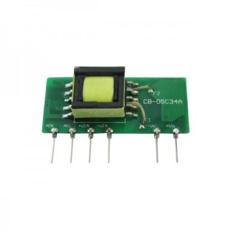 5W 3KVac Isolation Single Output AC-DC Converter (Open Frame) - 5W 3KVac Isolation AC-DC Converter (Open Frame)(GS5 Series)
