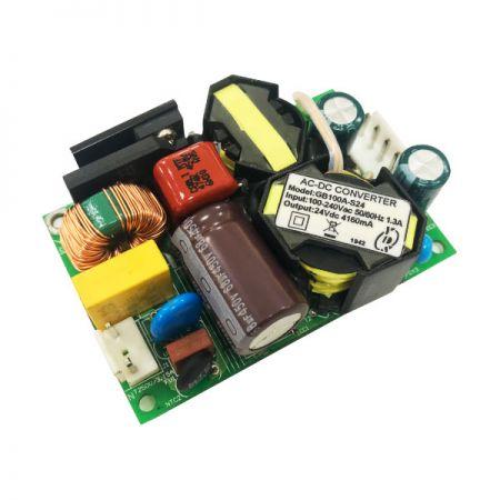 """100W 3KVac 절연 단일 출력 3"""" x 2"""" 소형 AC-DC 컨버터(오픈 프레임)"""