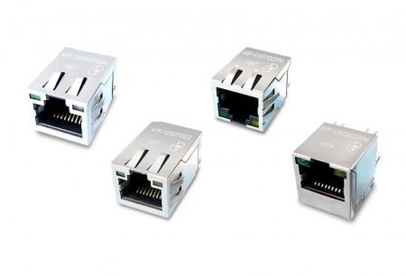 1 x 1 통합 RJ45 잭 - 단일 포트 RJ45 커넥터