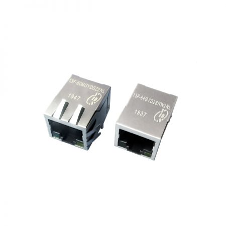 Single Port 10/100 Base-T RJ45-Buchse mit Magnetics - Single Port 10/100 Base-T RJ45-Buchse mit Magnetik (Serie 13F-6X)