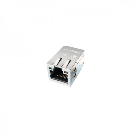 Single Port 10/100/1000 Base-T RJ45 Jack with Magnetics(47F)