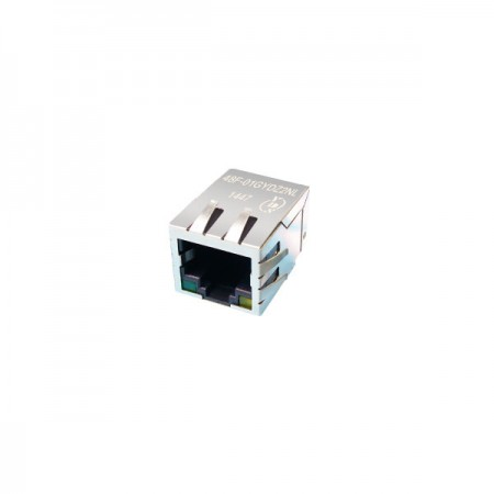 Single Port 100/1000 Base-T RJ45 Jack with Magnetics(48F)