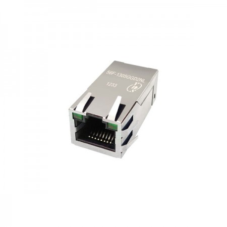 Single Port 10/100/1000 Base-T RJ45 with Magnetics(56F) - Single Port 10/100/1000 Base-T RJ45 Jack with Magnetics(56F Series)