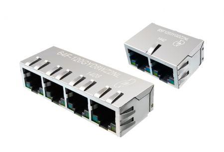 1 x N tomadas RJ45 integradas - 1 x conectores RJ45 de porta N