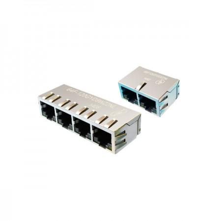 1xN Port 10/100/1000 Base-T RJ45 Jack with Magnetics - 1xN Port 10/100/1000 Base-T RJ45 Jack with Magnetics(6XF Series)
