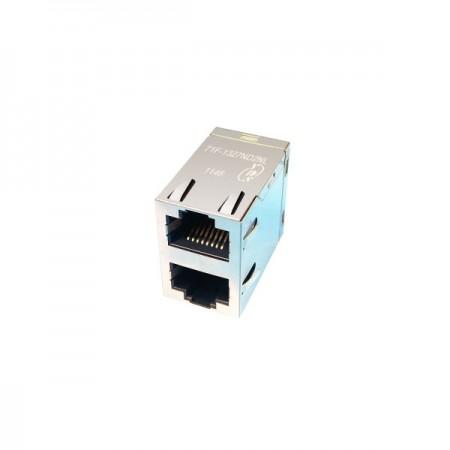 2x1 Port 10/100/1000 Base-T RJ45 Jack with Magnetics - 2x1 Port 10/100/1000 Base-T RJ45 Jack with Magnetics(71F Series)
