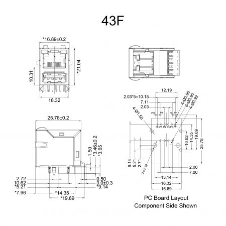 43F Series Mechanicals and Dimensions