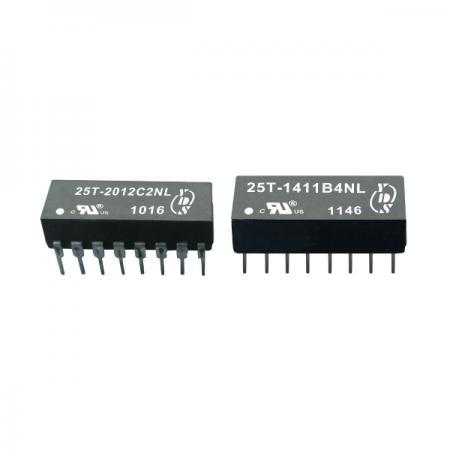 หม้อแปลงแยกฐาน 10 Base-T (25T) - หม้อแปลงไฟฟ้าแบบแยก 10Base-T SMD (ซีรี่ส์ 25T)