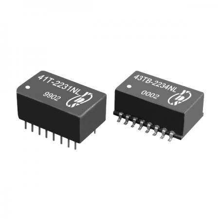 2KVrms 전압 절연 ISDN-S0 인터페이스 SMD 및 스루홀 변압기(41T/43TB) - ISDN 절연 SMD 및 스루 홀 통신 변압기(41T/43TB 시리즈)