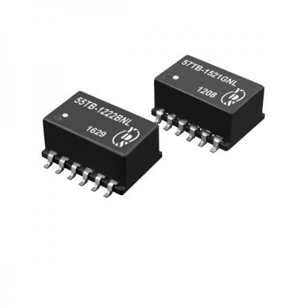 T1/CEPT/ISDN-PRI 인터페이스 1.5KVrms 절연 SMD 이중 변압기(55TB/57TB) - T1/CEPT/ISDN-PRI 인터페이스 1.5KVrms 절연 변압기(55TB/57TB 시리즈)