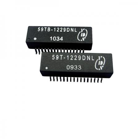 쿼드 포트 T1/CEPT/ISDN-PRI 인터페이스 표면 실장 변압기(59T/59TB) - T1/CEPT/ISDN-PRI 인터페이스 쿼드 포트 1.5KVrms 절연 표면 실장 변압기(59T/59TB 시리즈)