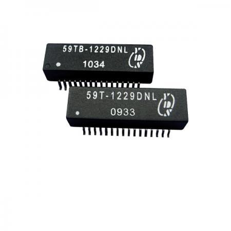Quad Port T1/CEPT/ISDN-PRI อินเทอร์เฟซ Surface Mount Transformer (59T/59TB) - T1/CEPT/ISDN-PRI อินเทอร์เฟซ Quad Port 1.5KVrms Isolation Surface Mount Transformer (59T/59TB Series)