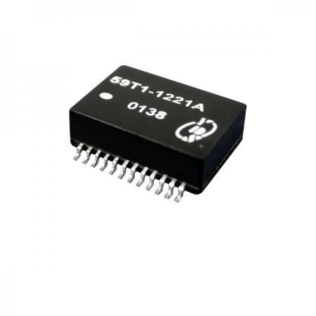 Quad Port T1/CEPT/ISDN-PRI อินเทอร์เฟซ Surface Mount Transformer (59T1) - T1/CEPT/ISDN-PRI อินเทอร์เฟซ Quad Port 1.5KVrms Isolation Surface Mount Transformer (59T1 Series)