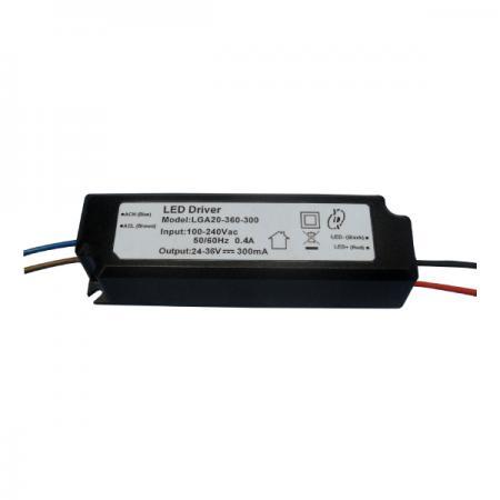 10 ~ 25W 3KVac Isolation PFC LED Drivers-LGA20(A) - Pilotes de LED PFC non gradables 10 ~ 25W 3KVac Isolation (série LGA20(A))