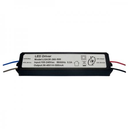 10~30W 3KVac การแยก PFC LED Drivers-LGA30(A) - 10~30W 3KVac Isolaion ไดร์เวอร์ LED PFC แบบหรี่แสงไม่ได้ (LGA30(A) Series)