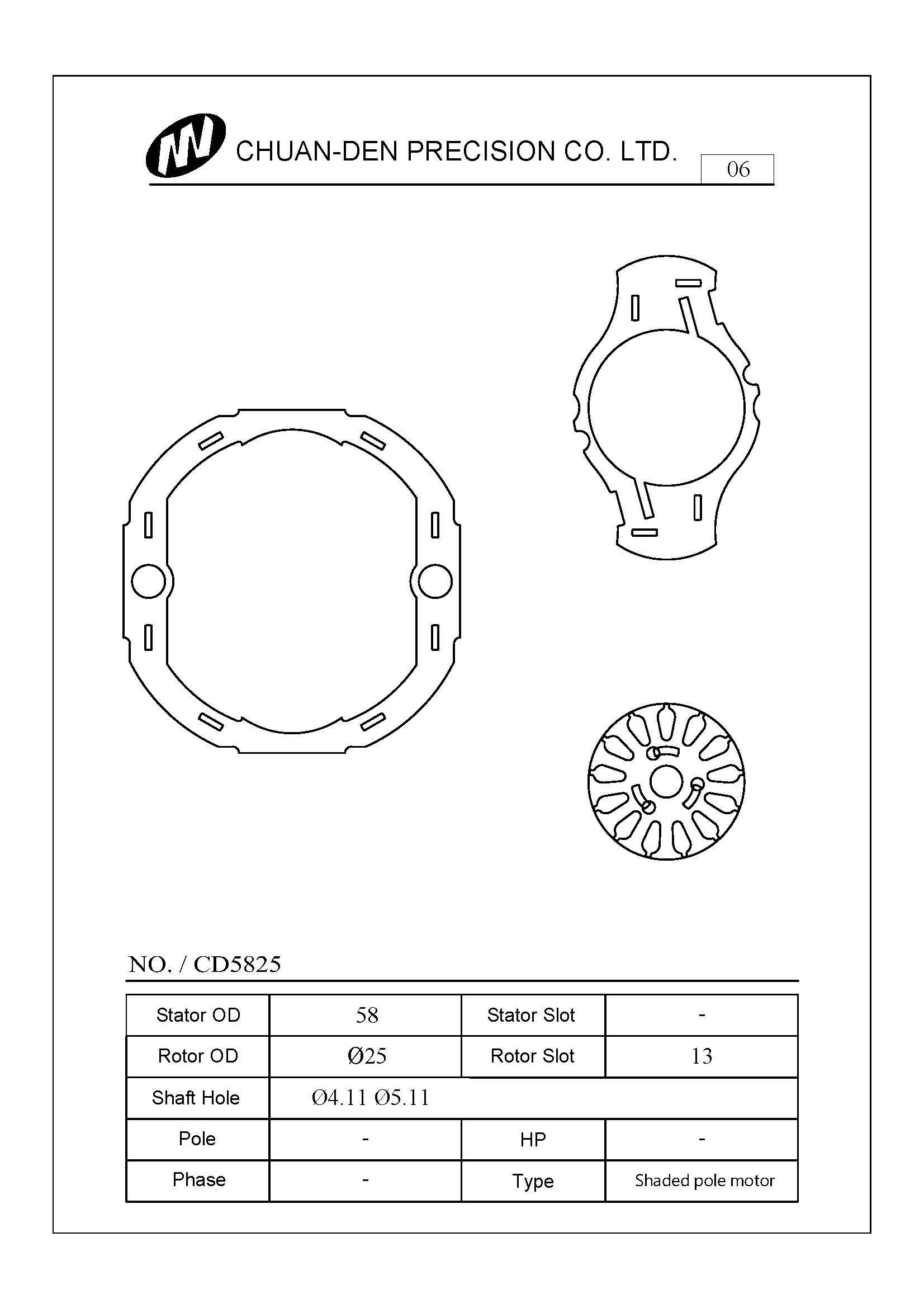 Stator Rotor Lamination for Shaded Pole Motor | Industrial Motors