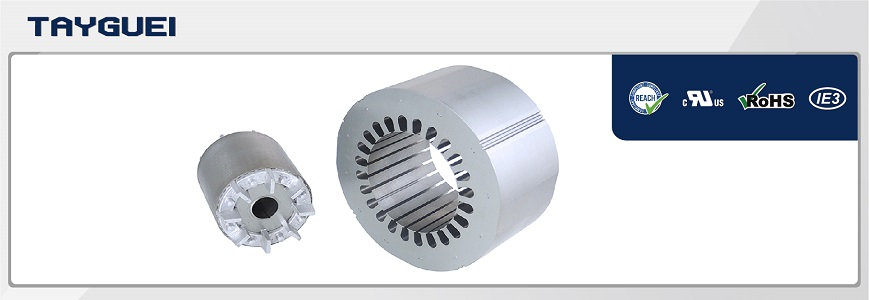 Stator rotor lamination, motor core for electric air blower fan