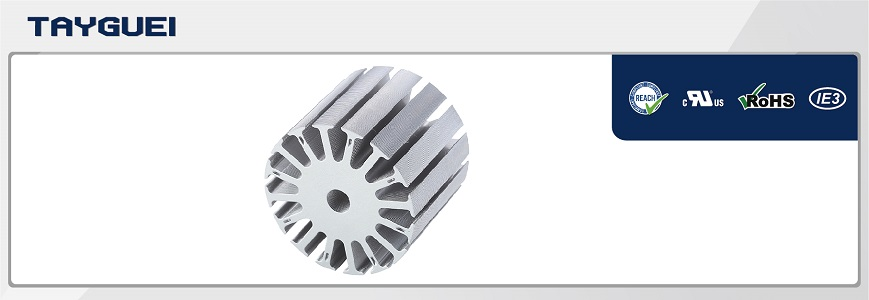 Stator rotor lamination, motor core for DC brushless electric motor