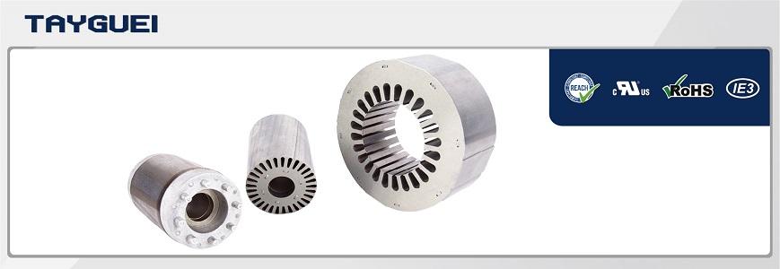 EV HEV BEV motor magnetic stator rotor core and winding
