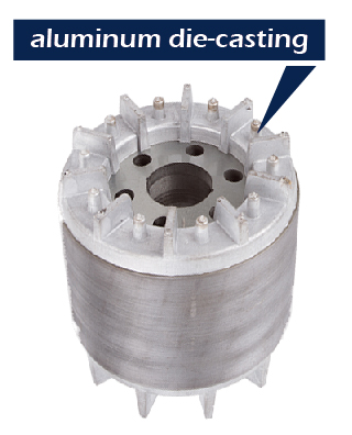 Rotor with various kinds of aluminum die casting.