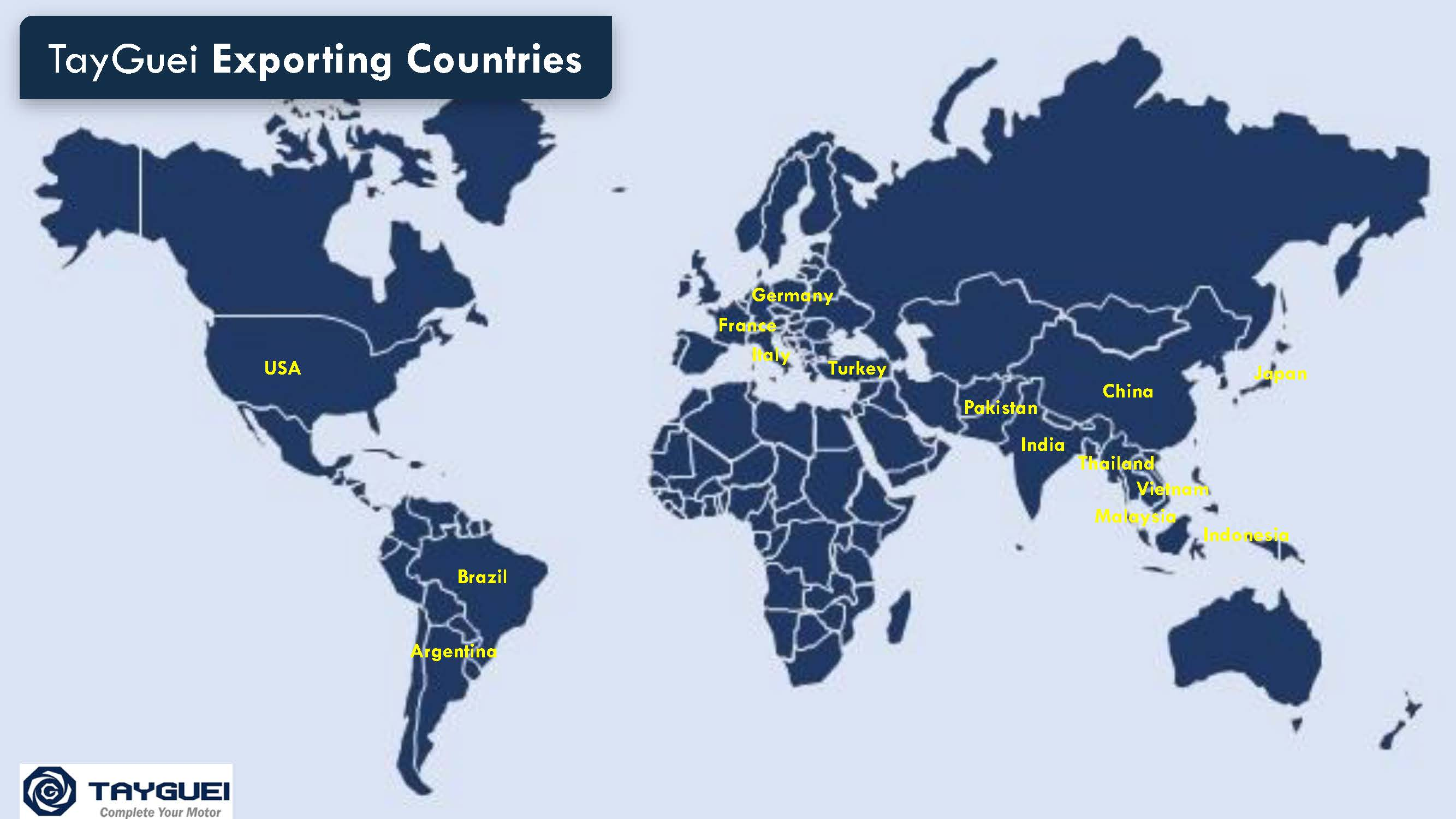 There are 15 countries to be exported.