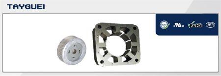 80x46 mm Stator Rotor Lamination for Fan Motor (Copper winding saving model) - 80x46 mm Stator Rotor Lamination for Fan Motor (Copper winding saving model), especially for 110V moto